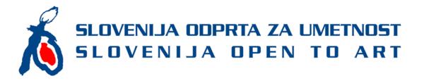 Slovenija odprta za umetnost logo